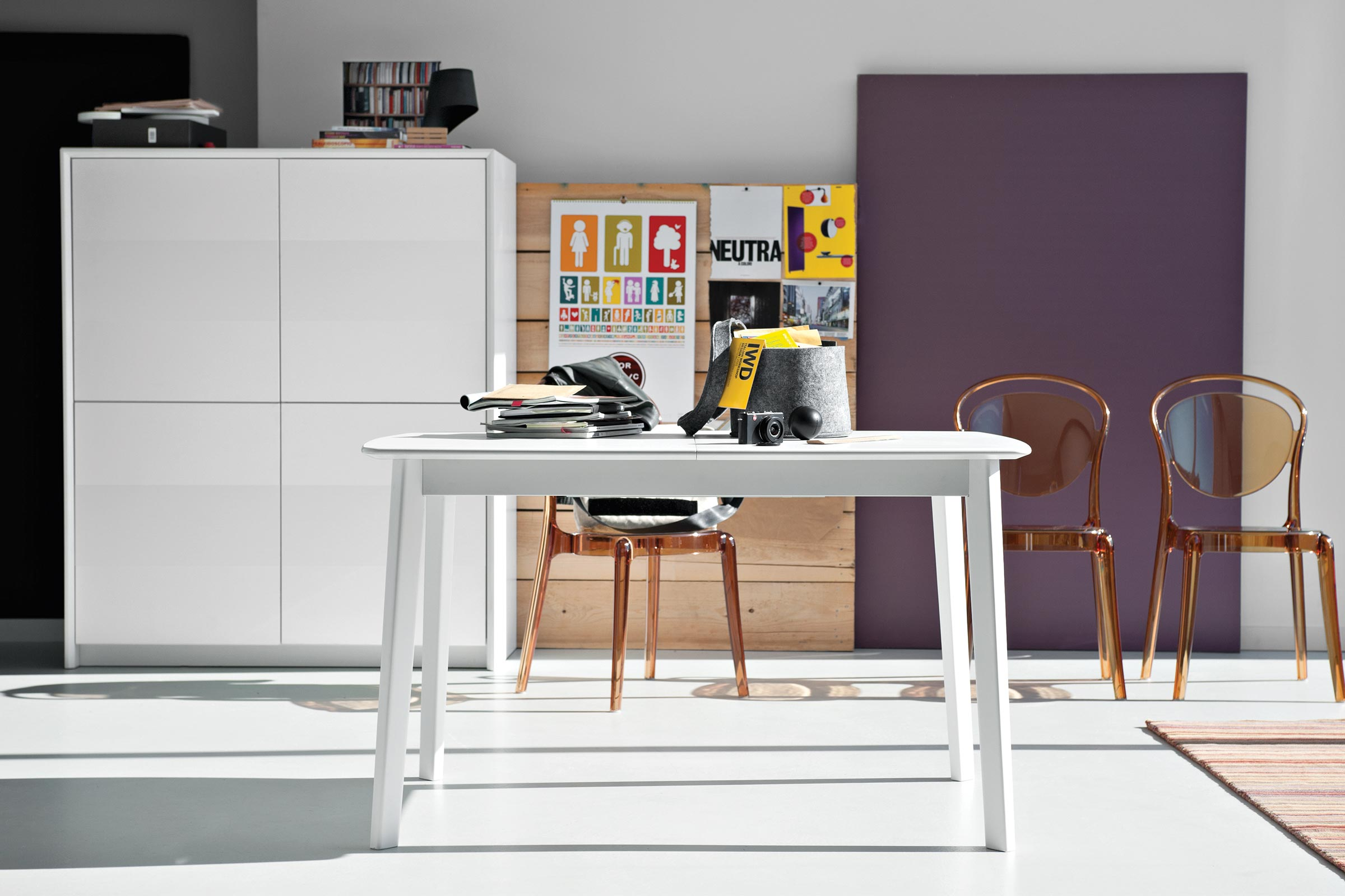 Cream Scandinavian Design Extendable Table Calligaris