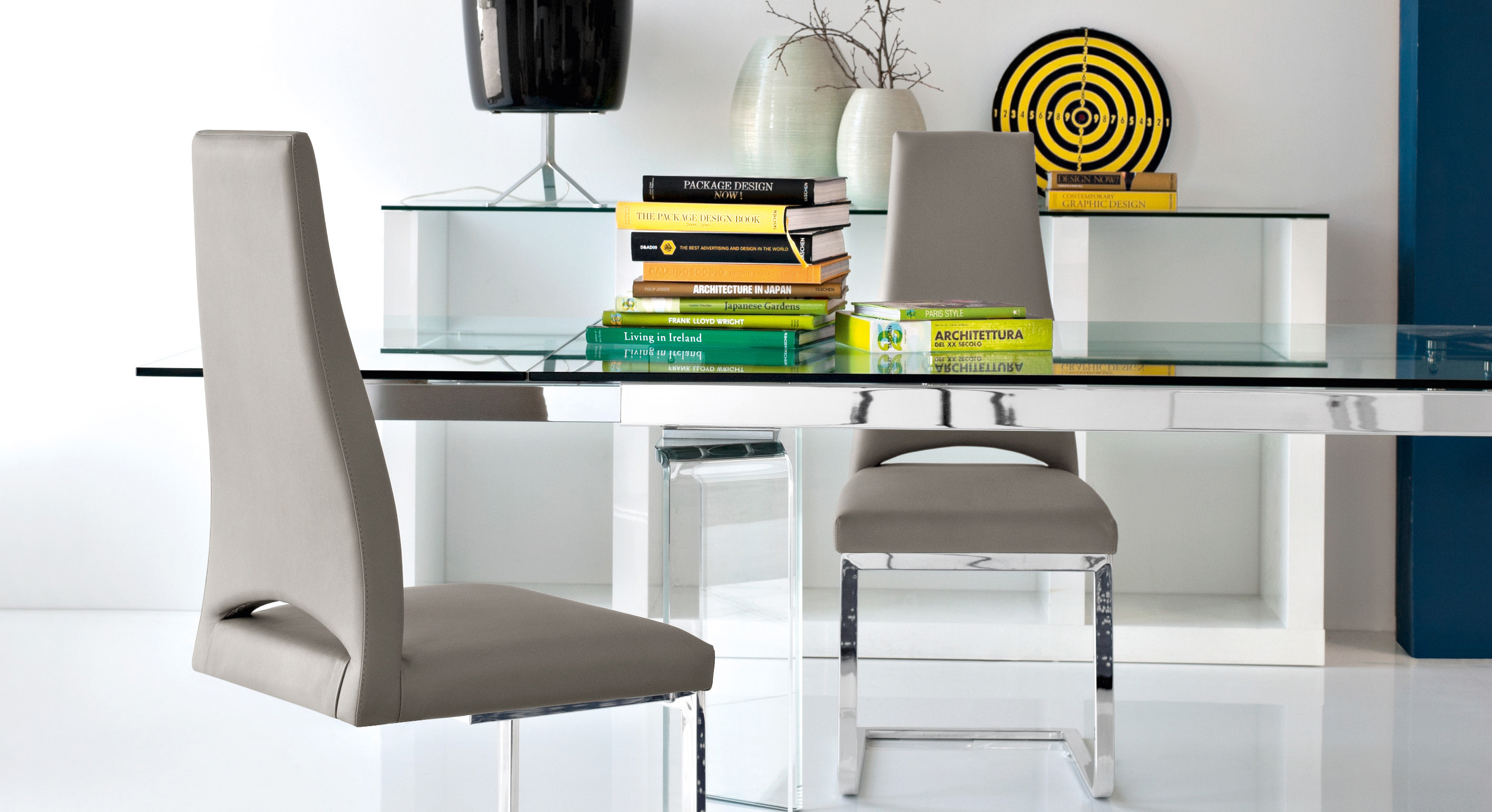 Calligaris Tower Modern Extendable Glass Dining Table Calligaris Toronto Store