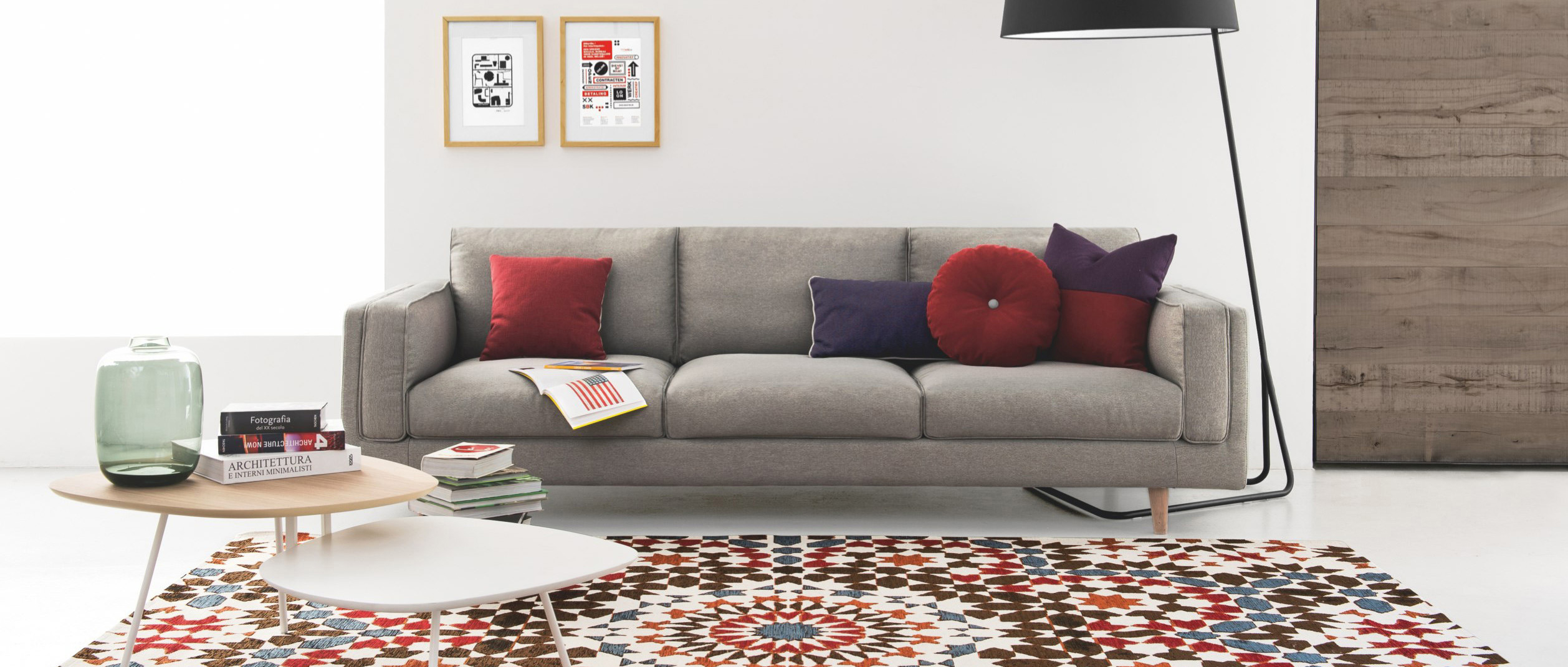 Calligaris marocco moroccan inspired rug with a vintage for Sofa modular gris