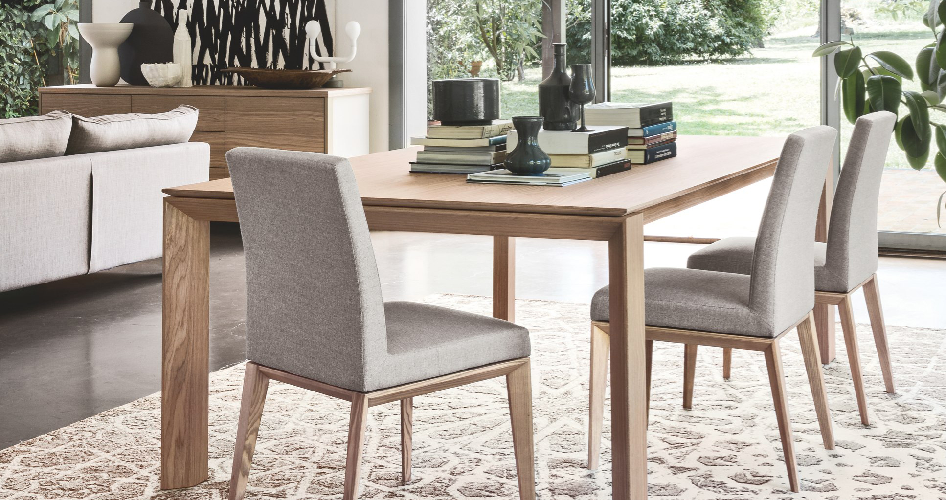 Calligaris omnia 140 wood frame extendable dining table calligaris toronto store - Sedia bess calligaris ...