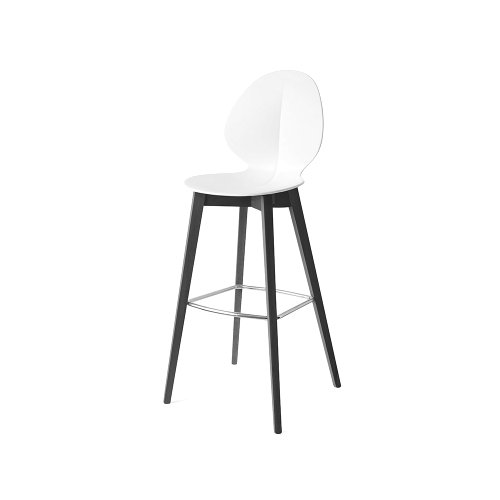 CS1496 BASIL W Frame P132 bch. GRAPHITE Seat P94 pp MATT OPTIC WHITE