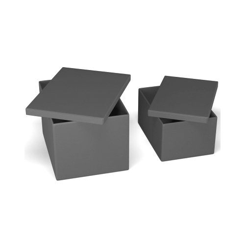 CLEVER Storage box polyester felt ANTHRACITE