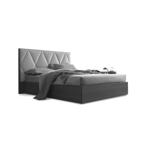 Erie: Partially-Upholstered-Headboard Bed