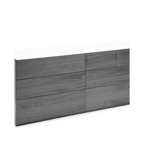 CITY Frame P201 wlnt ven. WALNUT  Drawers P201 wlnt ven. WALNUT  Top P321 ceramic LEAD GREY