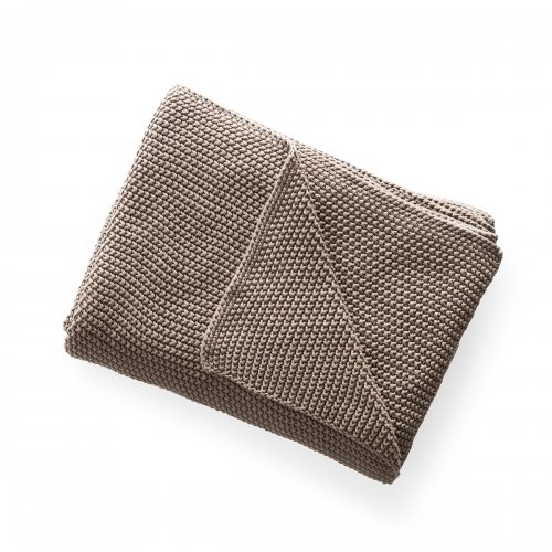 CANTWELL Throw cotton TAUPE