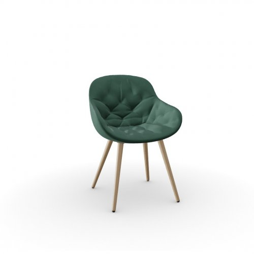 IGLOO SOFT Frame P19W ash. NATURAL OAK  Seat S0H Venice FOREST GREEN