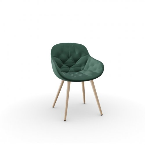 IGLOO SOFT Frame P27 ash. NATURAL  Seat S0H Venice FOREST GREEN
