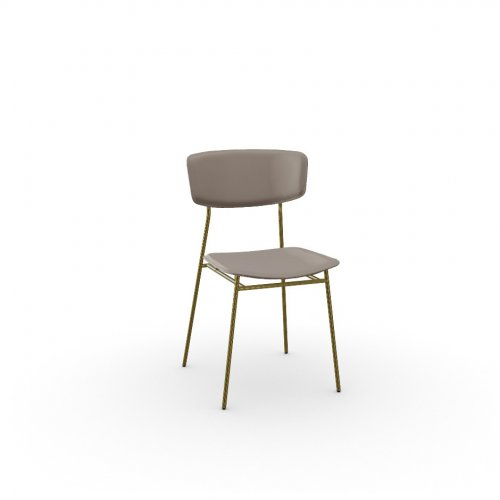 FIFTIES Frame P175 met. POLISHED BRASS  Seat S0F Venice SAND