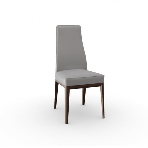 MARGOT Frame P12 ash. SMOKE  Seat D04 soft leather TAUPE