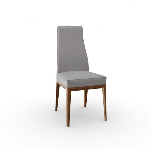 MARGOT Frame P201 ash. WALNUT  Seat D04 soft leather TAUPE
