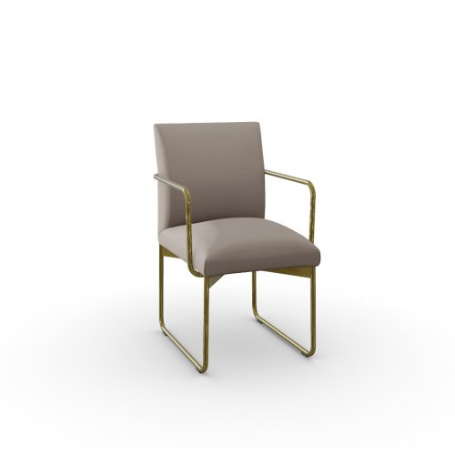 GALA Frame P175 met. POLISHED BRASS  Seat S0F Venice SAND