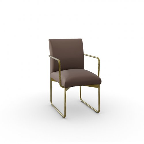 GALA Frame P175 met. POLISHED BRASS  Seat S0G Venice SOIL BROWN