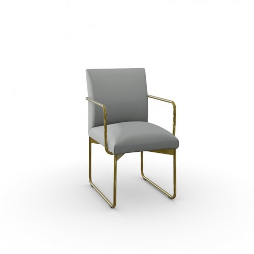 GALA Frame P175 met. POLISHED BRASS  Seat S0L Venice ASH GREY