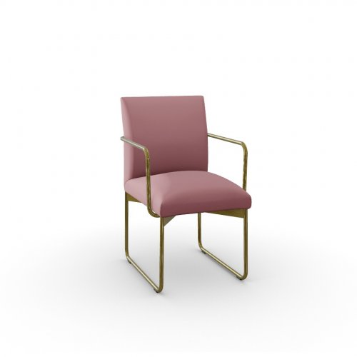 GALA Frame P175 met. POLISHED BRASS  Seat S0U Venice PINK