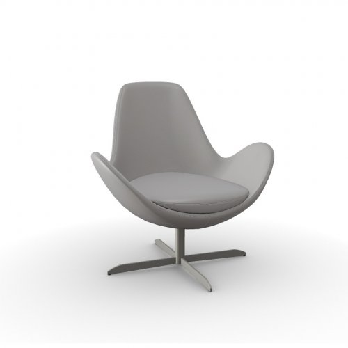 ELECTA Frame P66 met. SATIN FINISHED NICKEL  Seat D04 soft leather TAUPE