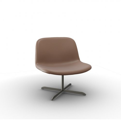 COLLEGE Frame P66 met. SATIN FINISHED NICKEL  Seat L01 soft leather ANTELOPE BROWN