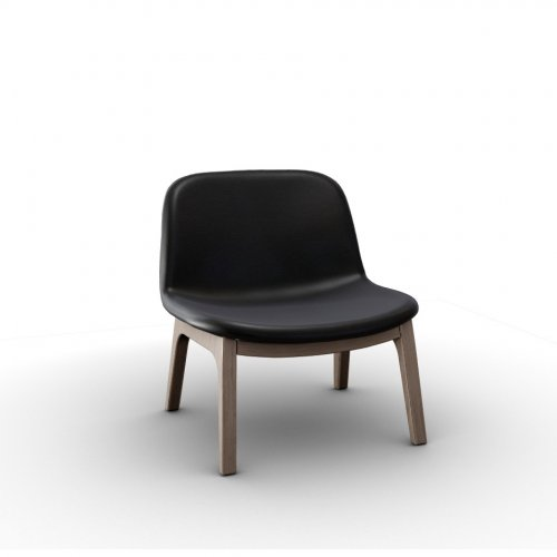COLLEGE Frame P27 ash. NATURAL  Seat 683 soft leather BLACK