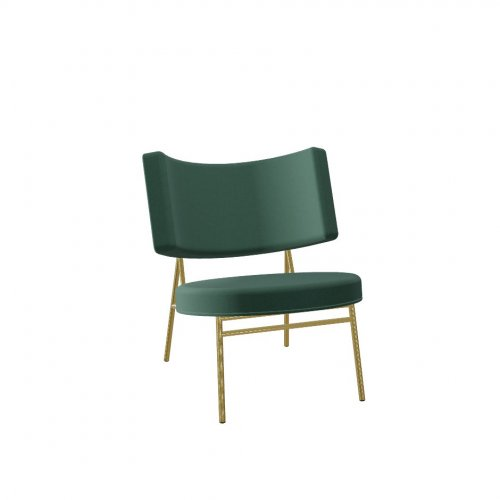 COCO Frame P175 met. POLISHED BRASS  Seat S0H Venice FOREST GREEN