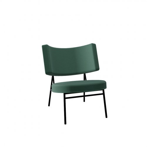 COCO Frame P1L met. BLACK NICKEL  Seat S0H Venice FOREST GREEN