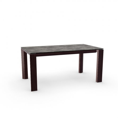 OMNIA GLASS Top P321 ceramic (g) LEAD GREY  Frame P128 oak ven. WENGE  Legs P128 oak ven. WENGE