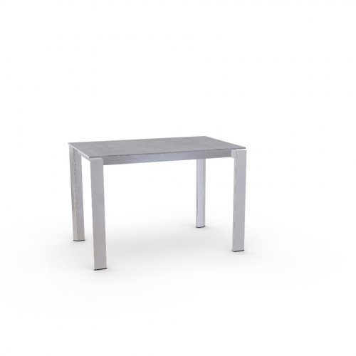 DUCA Top P18W mel. BETON GREY  Frame P74 met. POLISHED ALUMINIUM  Legs P77 met. CHROMED