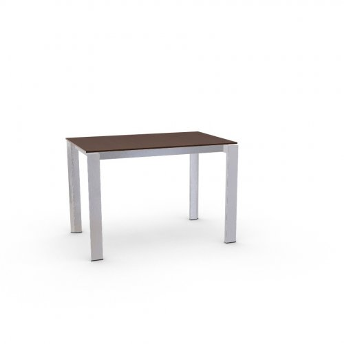 DUCA Top P47W mel. TOBACCO OAK  Frame P74 met. POLISHED ALUMINIUM  Legs P77 met. CHROMED