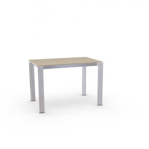 DUCA Top P49W mel. NATURAL OAK  Frame P74 met. POLISHED ALUMINIUM  Legs P77 met. CHROMED