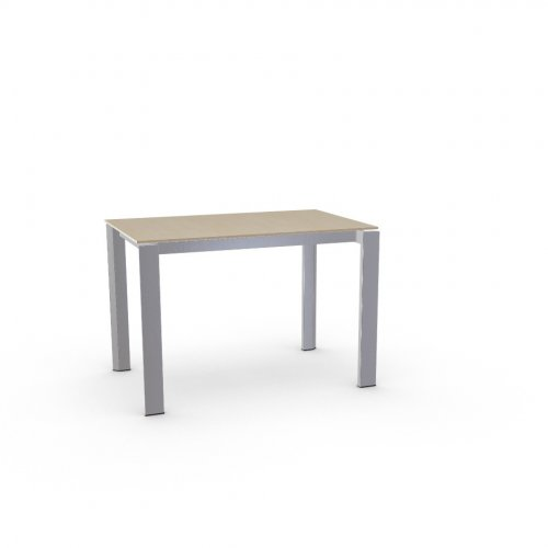 DUCA Top P49W mel. NATURAL OAK  Frame P95 met. SATIN FINISHED STEEL  Legs P95 met. SATIN FINISHED STEEL