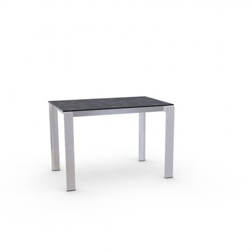 DUCA Top P510 lam. SLATE GREY  Frame P74 met. POLISHED ALUMINIUM  Legs P77 met. CHROMED