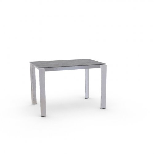 DUCA Top P810 lam. CEMENT  Frame P74 met. POLISHED ALUMINIUM  Legs P77 met. CHROMED