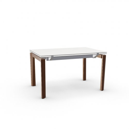 ESTESO WOOD Top P117 ceramic (g) WHITE  Frame P176 met. MATT TAUPE  Legs P201 ash. WALNUT