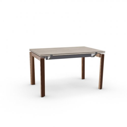 ESTESO WOOD Top P166 ceramic (g) NOUGAT  Frame P16 met. MATT GREY  Legs P201 ash. WALNUT