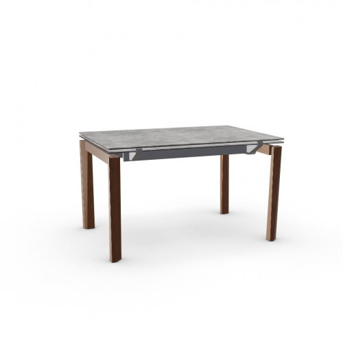 ESTESO WOOD Top P1C ceramic (g) CEMENT  Frame P16 met. MATT GREY  Legs P201 ash. WALNUT