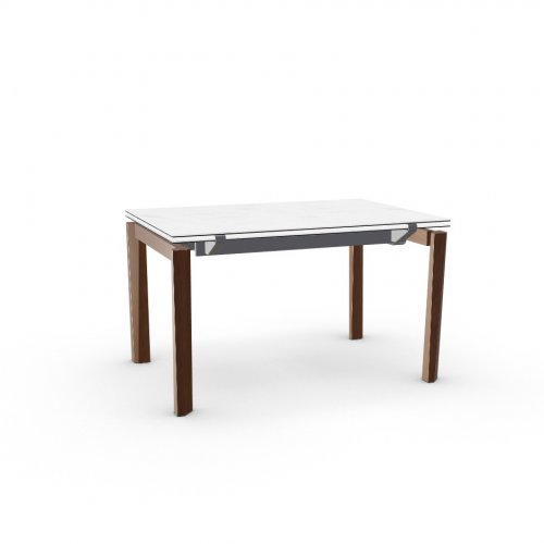 ESTESO WOOD Top P2C ceramic (g) WHITE MARBLE  Frame P16 met. MATT GREY  Legs P201 ash. WALNUT
