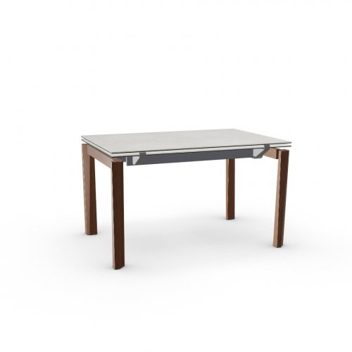 ESTESO WOOD Top P5C ceramic (g) SALT WHITE  Frame P16 met. MATT GREY  Legs P201 ash. WALNUT