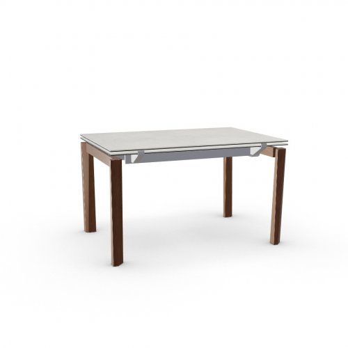 ESTESO WOOD Top P5C ceramic (g) SALT WHITE  Frame P176 met. MATT TAUPE  Legs P201 ash. WALNUT