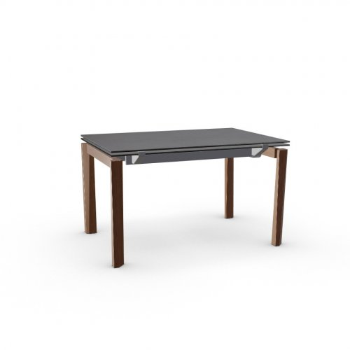ESTESO WOOD Top P6C ceramic (g) BLACK OXIDE  Frame P16 met. MATT GREY  Legs P201 ash. WALNUT