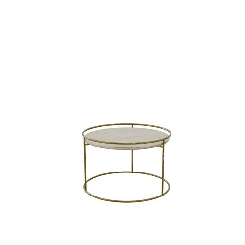 ATOLLO Base P175 met. POLISHED BRASS  Top P4C ceramic (w) GOLDEN ONYX MARBLE