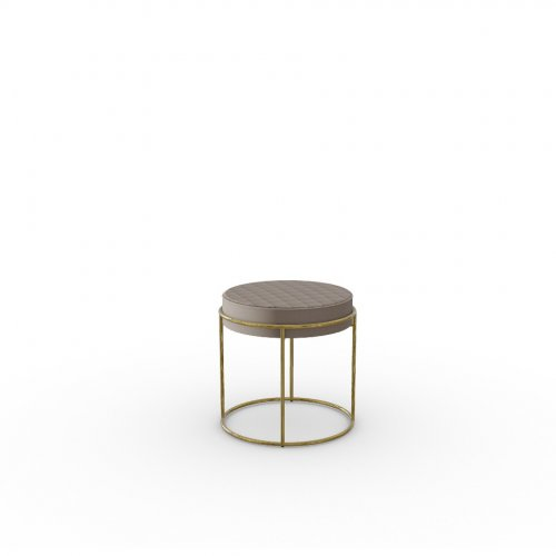 ATOLLO Frame P175 met. POLISHED BRASS  Seat S0F Venice SAND
