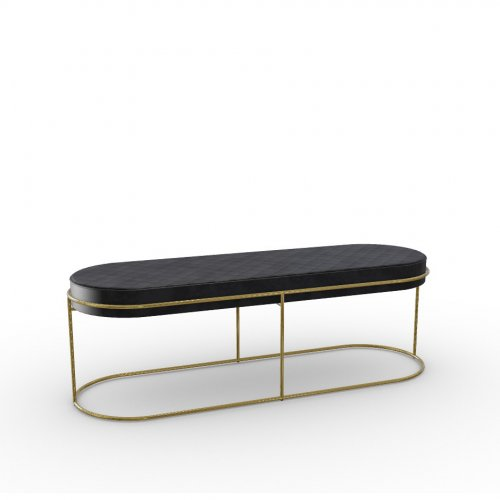 ATOLLO Frame P175 met. POLISHED BRASS  Seat S0C Vintage EBONY