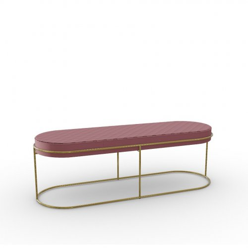 ATOLLO Frame P175 met. POLISHED BRASS  Seat S0U Venice PINK