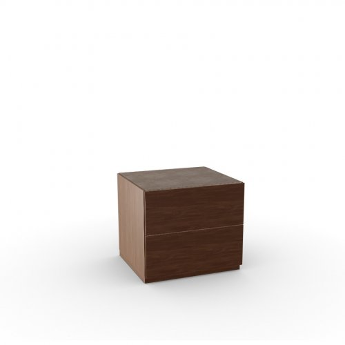 CITY Frame P201 wlnt ven. WALNUT  Drawers P201 wlnt ven. WALNUT  Top P166 ceramic NOUGAT