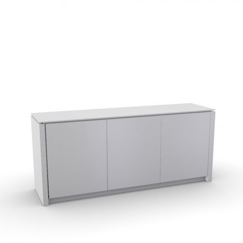MAG Frame P262 mel. WHITE  Doors P64 lacq. GLOSSY WHITE  Top GEW temp.glass FROSTED EXTRACLEAR