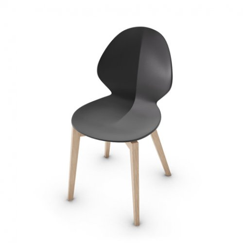 CS1348 BASIL W Frame P27 ash. NATURAL Seat P16 pp MATT GREY
