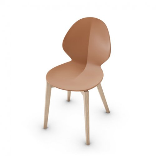 CS1348 BASIL Frame P27 ash. NATURAL Seat P28P pp MATT BRICK RED