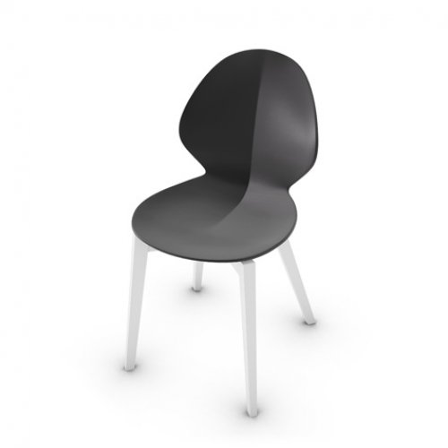 CS1348 BASIL W Frame P94 bch MATT OPTIC WHITE Seat P16 pp MATT GREY