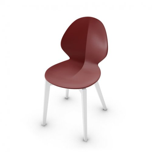 CS1348 BASIL Frame P94 bch. MATT OPTIC WHITE Seat P3L pp MATT OXIDE RED