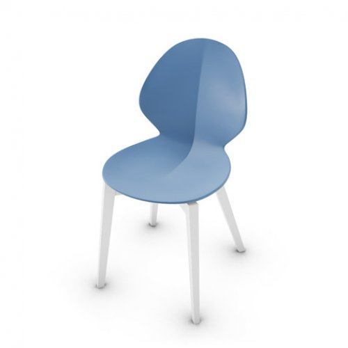 CS1348 BASIL W Frame P94 bch MATT OPTIC WHITE Seat P100 pp MATT SKY BLUE