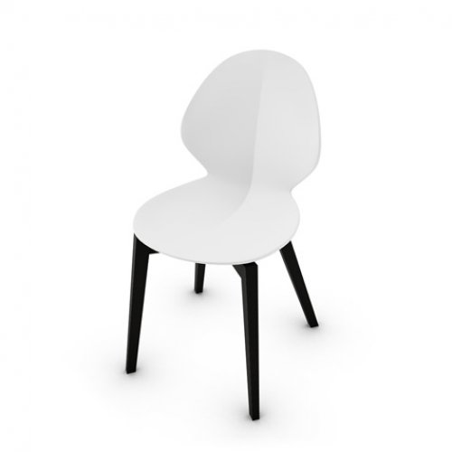 CS1348 BASIL W Frame P132 bch. GRAPHITE Seat P94 pp MATT OPTIC WHITE