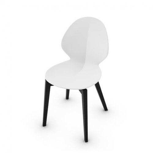 CS1348 BASIL W Frame P15L ash. MATT BLACK Seat P94 pp MATT OPTIC WHITE